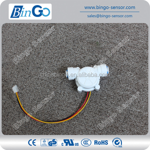POM Food grade liquid water flow meter sensors, piezo white flow sensor