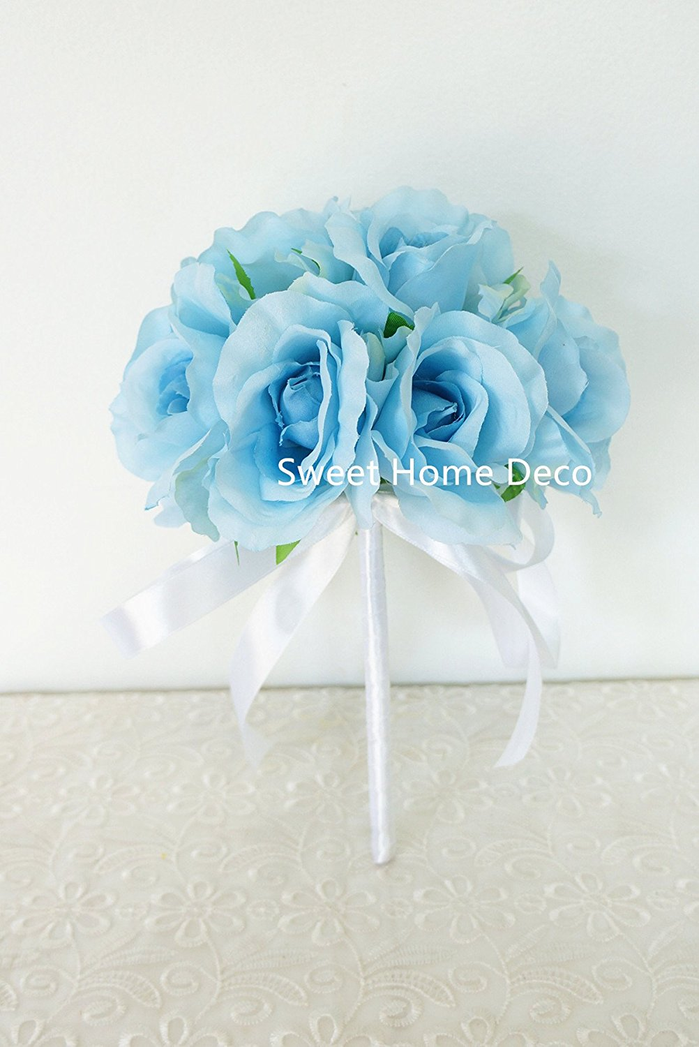 Buy Sweet Home Deco 11'' Silk Silk Rose Hydrangea ...