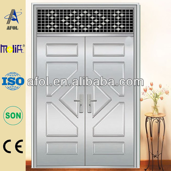 Fresh Stainless Steel Entry Door