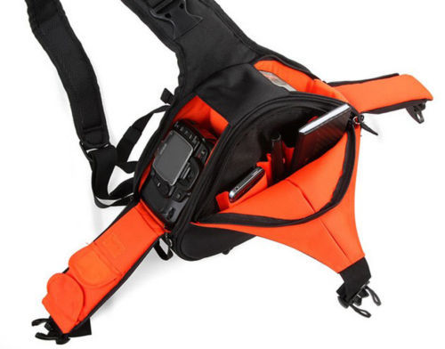Black Fashion Casual DSLR Camera Bag Waterproof backpack Shoulder Bag For Canon Nikon Sony