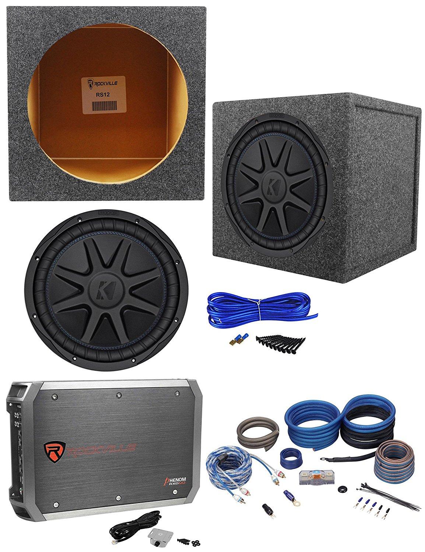 "Get Quotations · Kicker 44CVX122 CVX 12"" 750w RMS Car Subwoofer+Sealed Sub  Box+Amplifier+"