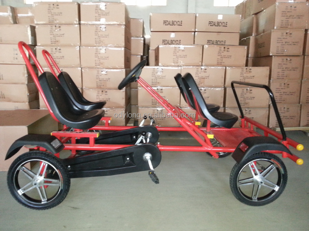Adult Pedal Car: Quadracycle Four Wheel Pedal Bikes For 1 Person