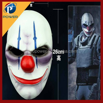 payday 2 movie scary clown mask, halloween party mask, 2015 joker ...