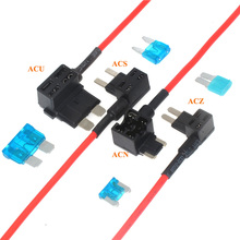 Voeg EEN Circuit Piggy Back Low Profile Automotive 5A 10A 15A 20A 15 Amp Mini Micro Blade Fuse Holder Box