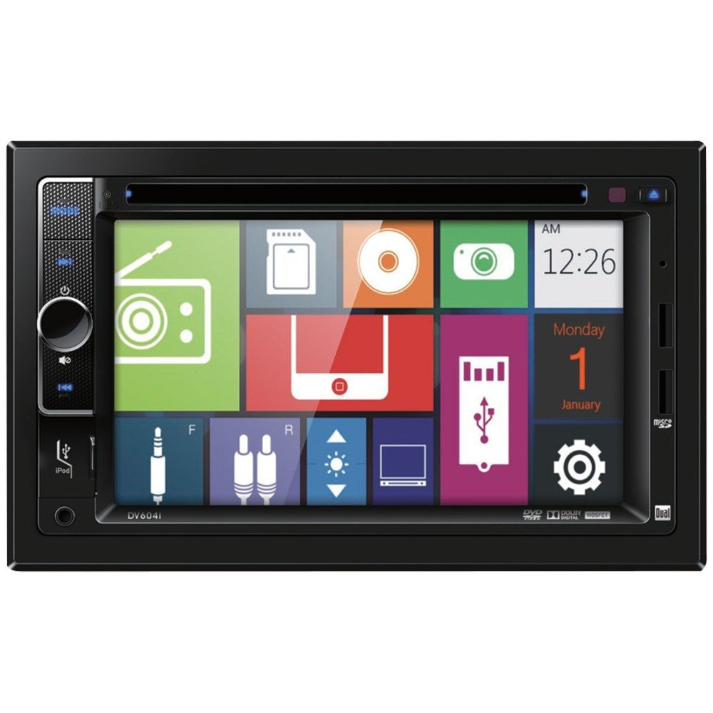 """DUAL DV604I 6.2"""""""" Double-DIN In-Dash DVD Receiver with iPod(R) Control electronic consumer"""