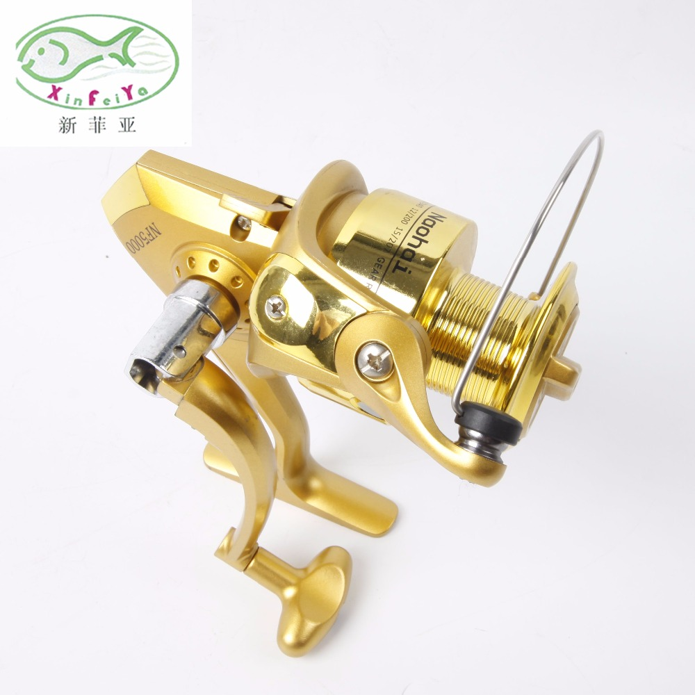 New Rotary Flat Oscillation System fishing reel Carbon Handle New golden fishing reel