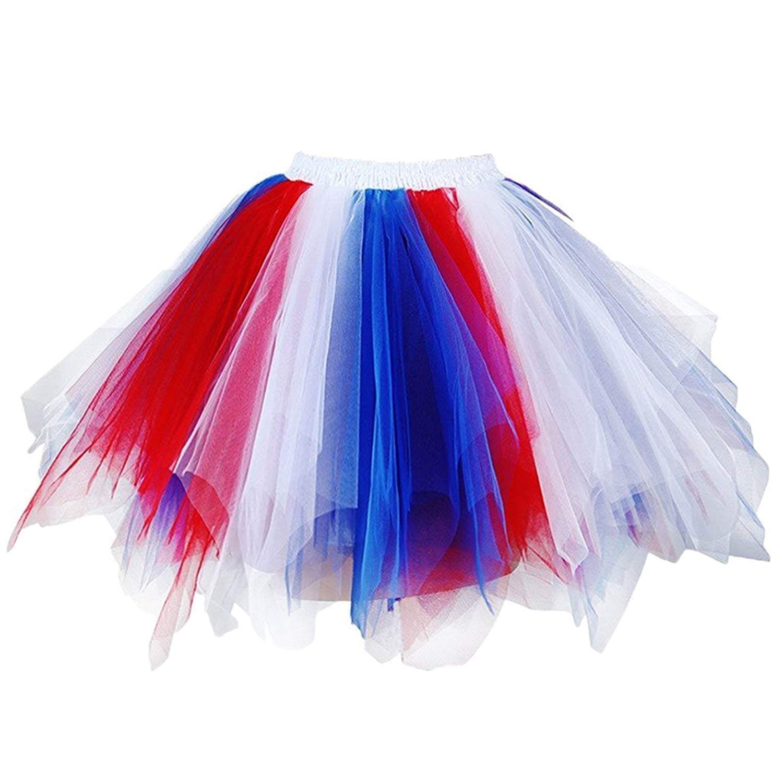 d67c51baa83b Get Quotations · Kelaixiang 1950s Vintage Petticoat Skirt Puffy Ballet  Bubble Tutus Slips