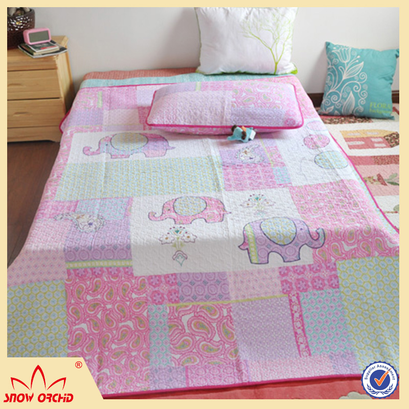 Chinese hot sale patchwork luxury embroidered cotton fabric bedding