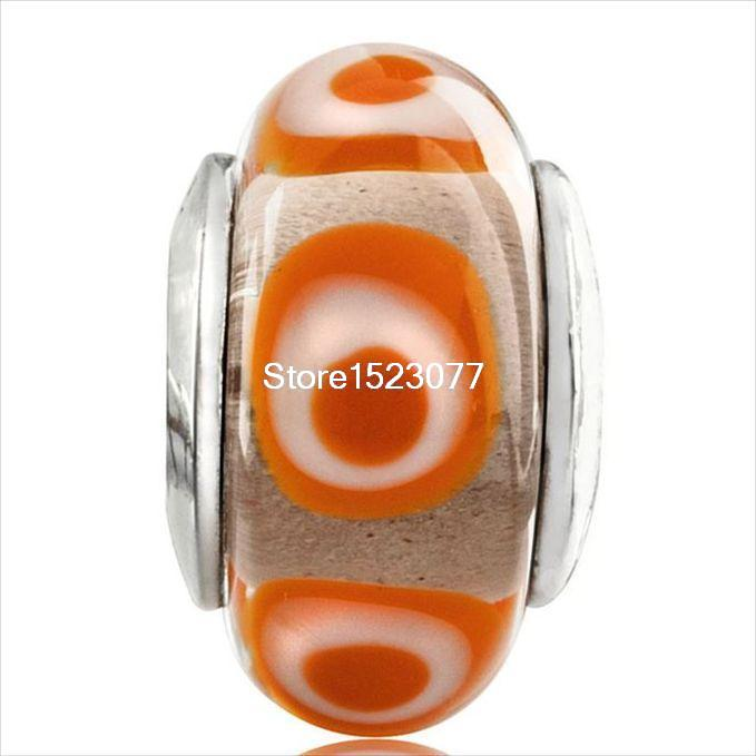 925 Sterling Silver Cute Diy Style Fashion Nice European Charm Bead Glass Murano Diy For Women Girls Snake Bracelets Bangle