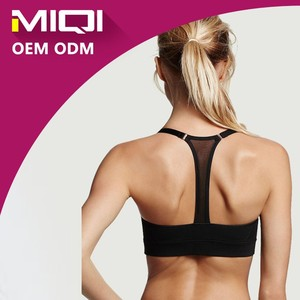 Hot Sale Fashionable Women Activewear Custom Blank Sexy Sports Padded Yoga Bra Tops