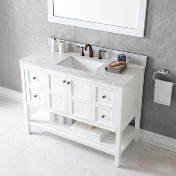 White Undermount Sink Laundry Cabinet