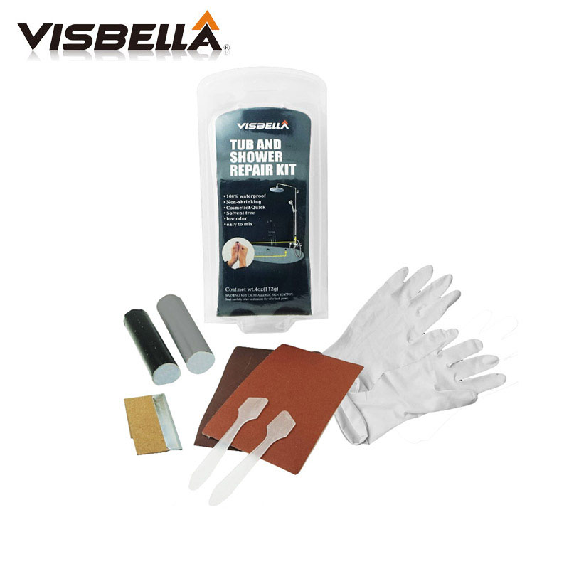 Visbella DIY Tub and Shower repair kit Bath crock repair <strong>glue</strong> Powerful Reinforcing Rapid Fix General Purpose Super Fsat Dry <strong>Glue</strong>