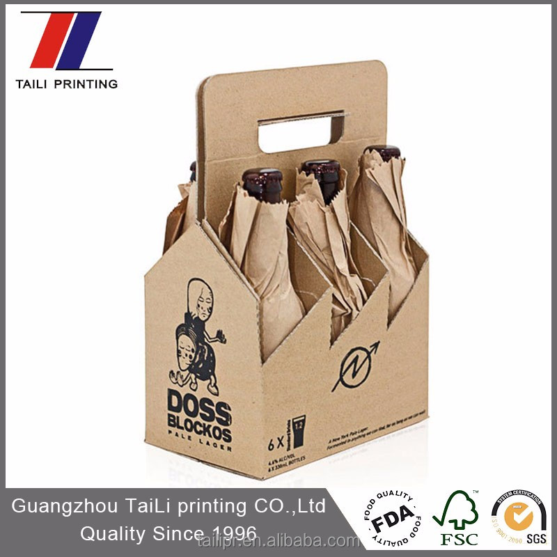 Take away strong structure beverage carrier cardboard