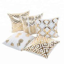 Oro Bronzing Geometrica Ananas Cuscino Bianco Case Camera Da Letto Home Office Decorativa