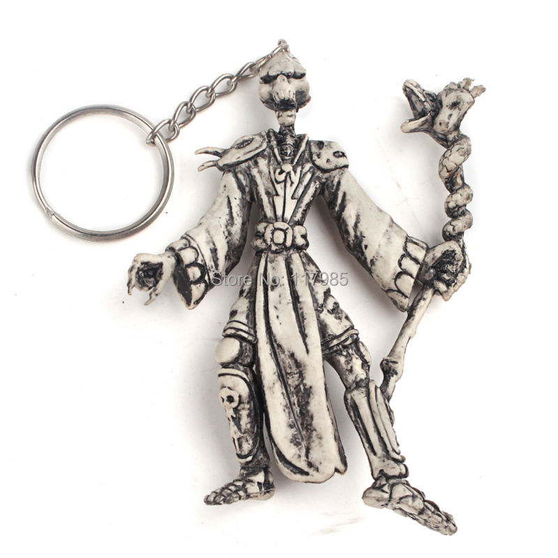 Clearance Sale 1Pc Vintage Skull Shape Key Chain Skeleton Key Ring Chain Keyfob Halloween Jewelry Best