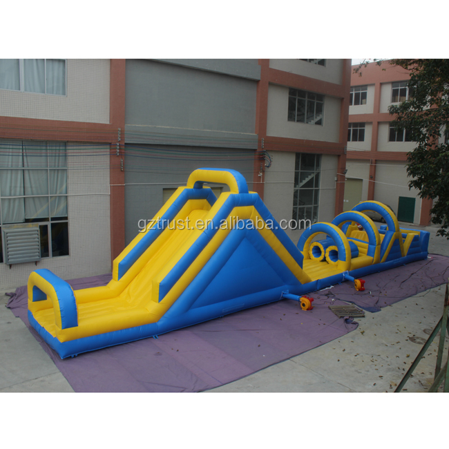 Custom attractive outdoor playground giant inflatable bouncy castle with water slide