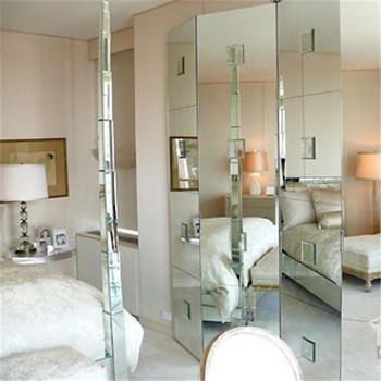 4mm Beveled Mirror Tiles Standing Salon