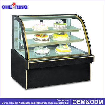 Marble Double Arc Cake Display Cabinet Chiller , Pastry Cooler Showcase