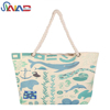 Large size 14oz 100% cotton tote bag canvas rope handle beach bag women fashion wholesale products hot 2018