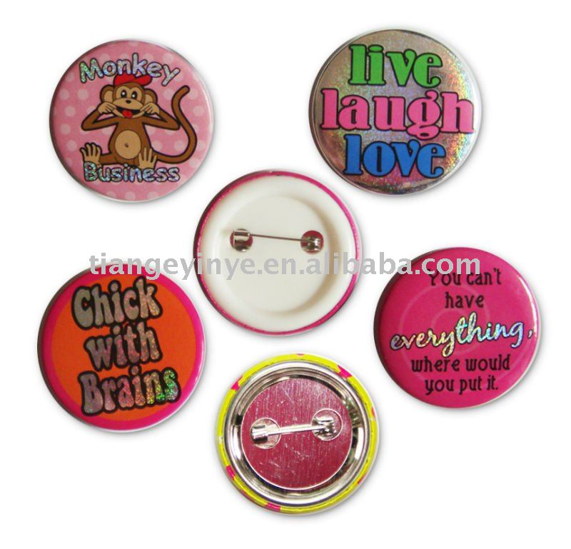Plastic Ribbon Button Badge