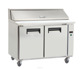 commercial under counter fridge chiller freezer with flat top
