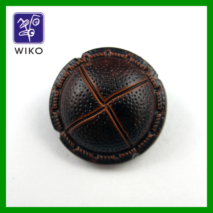 High quality imitation leather shank plastic button for garment