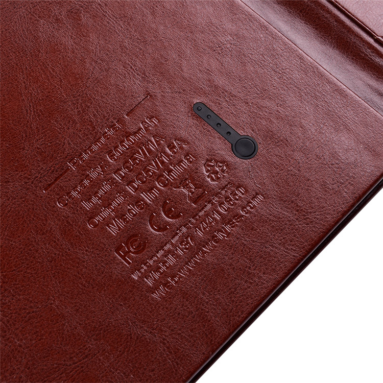 2018 Leather Manufacture Leather Restaurant Menu Cover Menu Power Bank