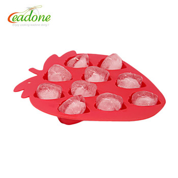 100% Food Grade Silicone Mini Silicone Ice cube Tray Molds/ice tray strawberry shape
