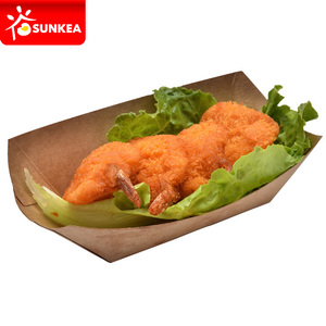 Sunkea china disposable paper boat paper food tray