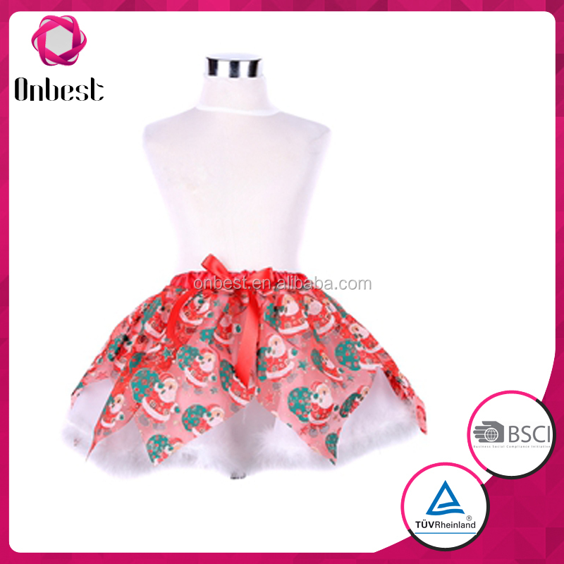 santa pattern professional ballet tutu tutu dress kids tutu dress/ tutu skirt/ lalaloopsy