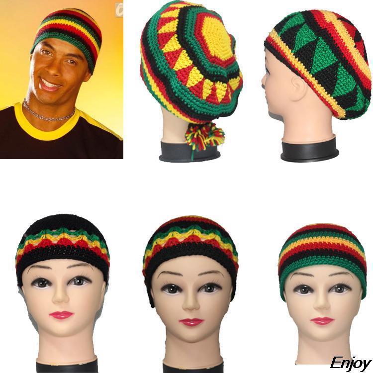 b86b9aa5e8df0 Wholesale-new winter hats handmade knitted wool cap rasta hat beanie  skullies for women and men Jamaican Fancy Dress Costume Halloween