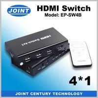 4 port mini plastic 1.4 hdmi switch with auto remote control