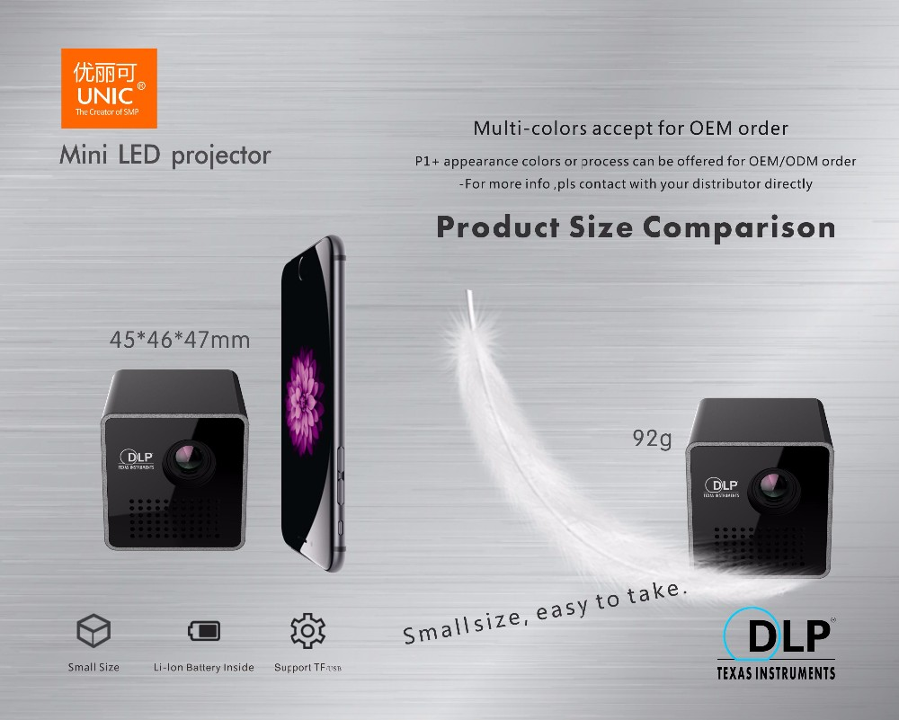 2017 Newest smart dlp projector wireless connection,read ppt,excel,pdf directly dlp data projector P1+