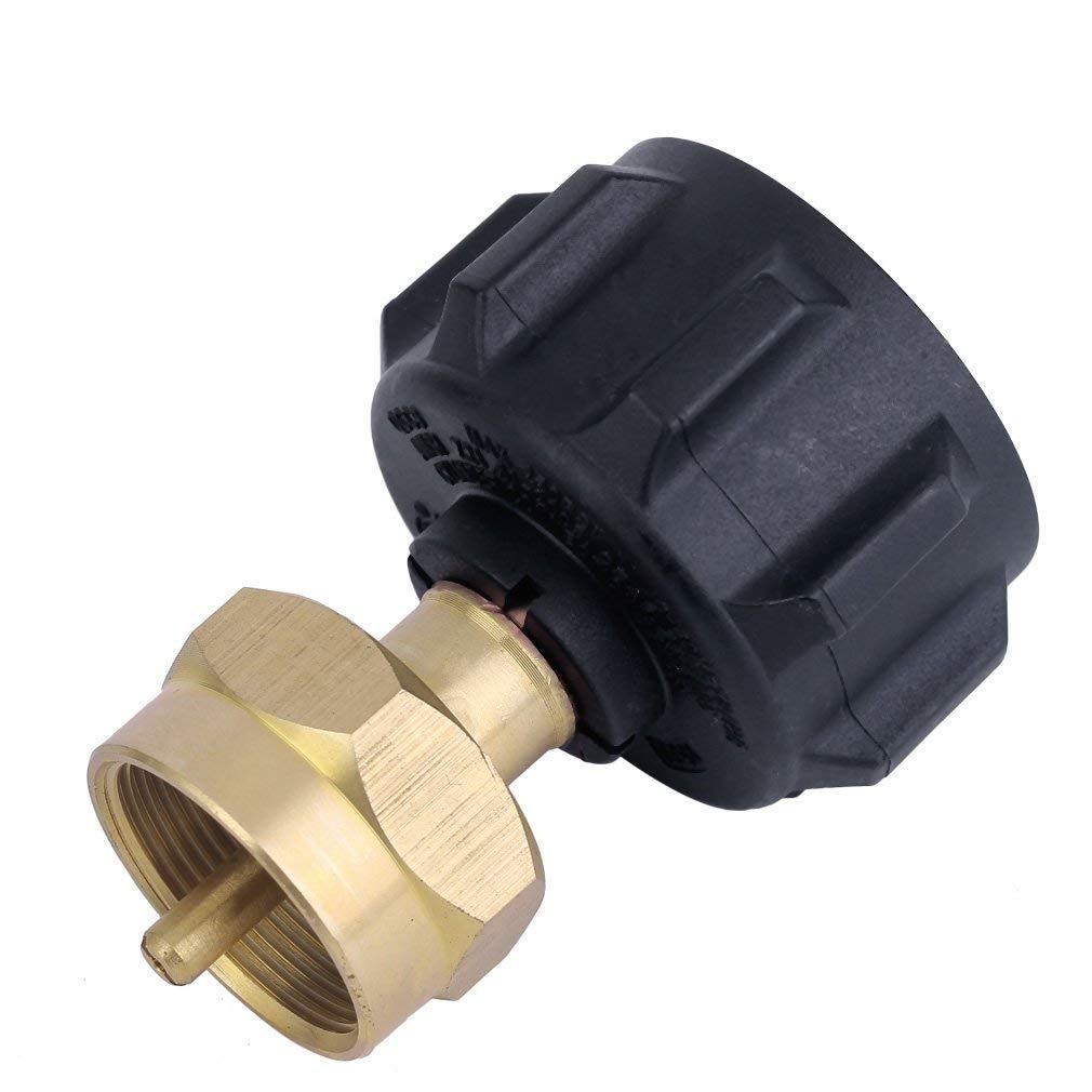 Refill Adapter /& Steak Saver Gas Grill Adapter Pack of 3 100/% Solid Brass Podoy 1 LB Propane Refill Adapter Set Universal for QCC1 // POL Propane Tank and 1 LB Small Disposable Small Bottle
