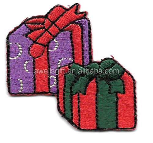 Christmas Present Gift Iron On Patch/Badge