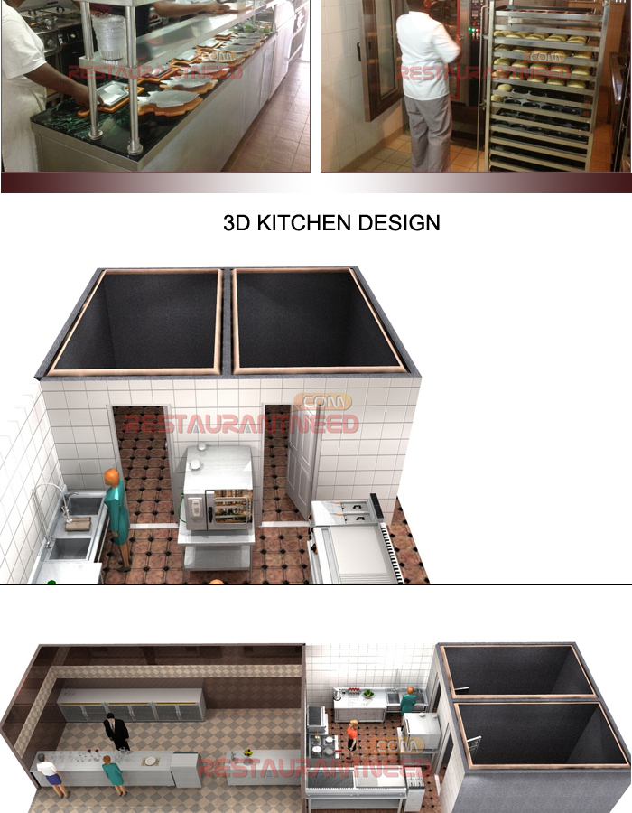Shinelong Customized Project Steakhouse Kitchen Design though Shinelong