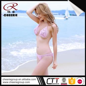 1e50344effc shenzhen ODM 100% handmade asian flag swimwear striped bikini sheer when wet