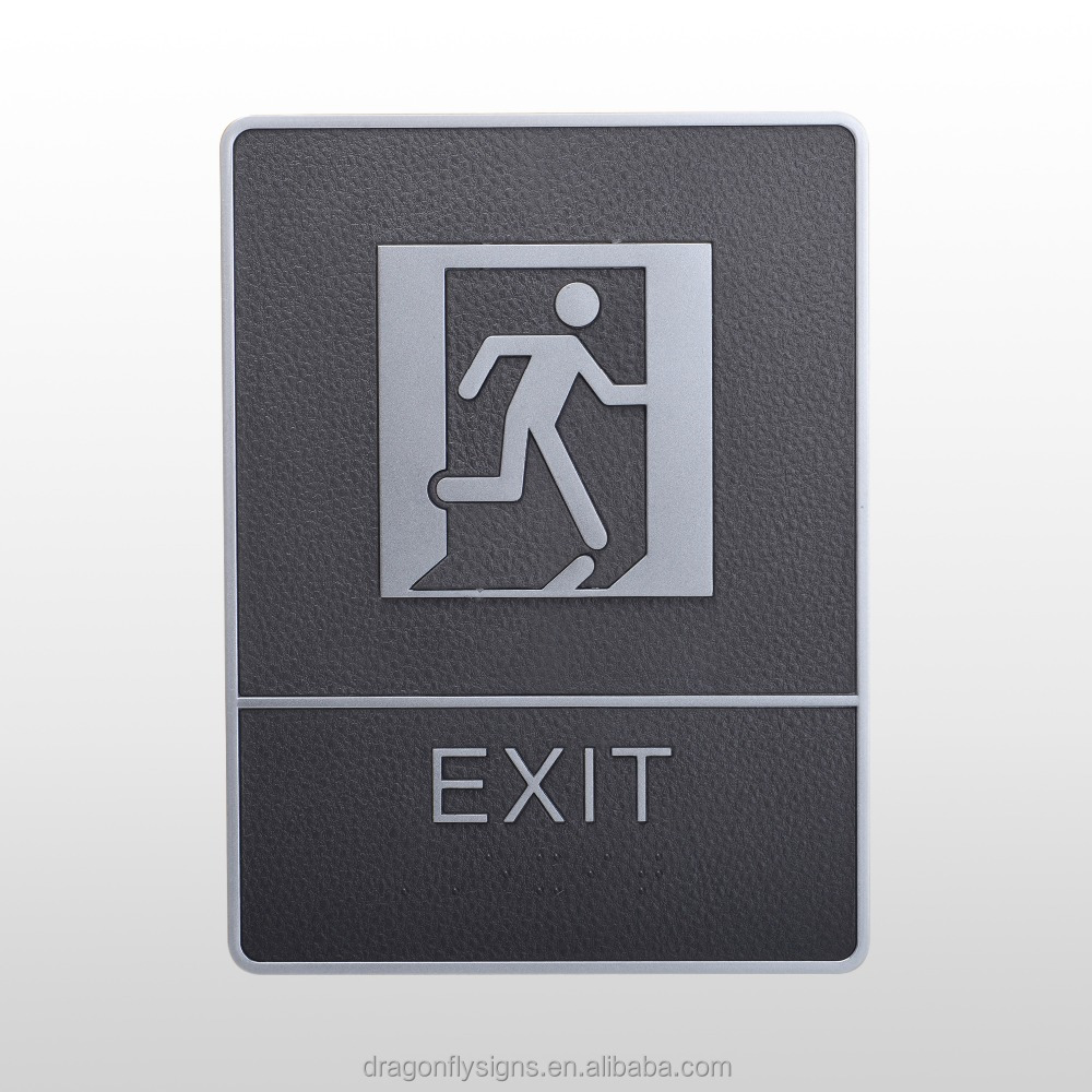 EXIT BRAILLE SIGN & TACTILE SIGN