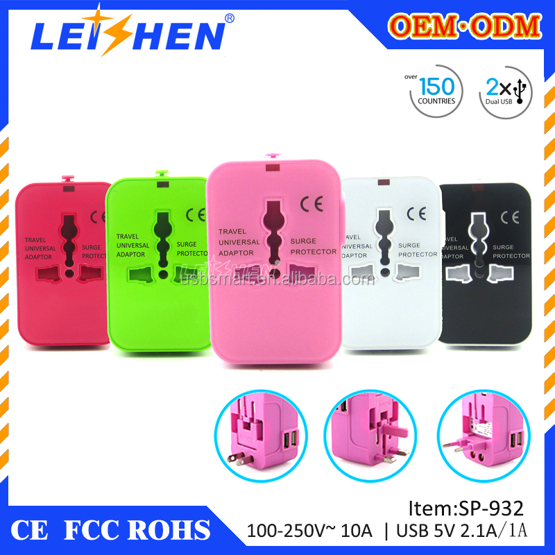 surface rubber oil coated 2100mA fully CE and ROHS usb travel charger power adapter