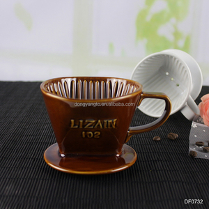 brown white coffee dripper pour over logo pods espresso brewing brewer brew vietnamese medium porcelain ceramic coffee filter
