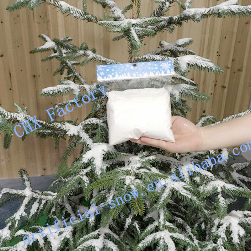Winter Wonderland Christmas Tree Decorating Fake Plastic Snow Snowflake Ornament For Artificial Snow Decoration