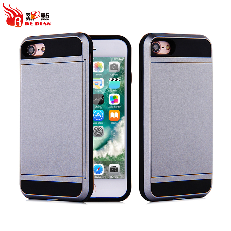 Custom handphone casing for iphone 7 cardholder case,new products housing case for gray card