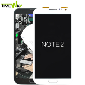 Alibaba Wholesale for samsung galaxy note 2 N7100 N7105 lcd touch screen+digitizer+frame
