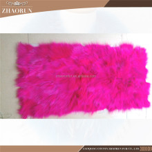 Factory Direct Sale Colorful Fox Fur Plate