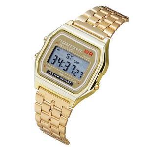 2019 Ebay Best Seller Ultra-thin F91w Sports Electronic Multi-function Luminous Alarm Clock Steel Ladies Wrist Watch Women