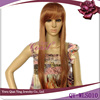 Very long straight platinum blonde hair wig daily use