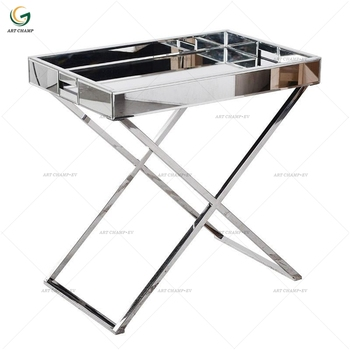 Remarkable Chrome Leg Mirrored Tray Top Stainless Steel Side Table Buy Side Table Product On Alibaba Com Beatyapartments Chair Design Images Beatyapartmentscom