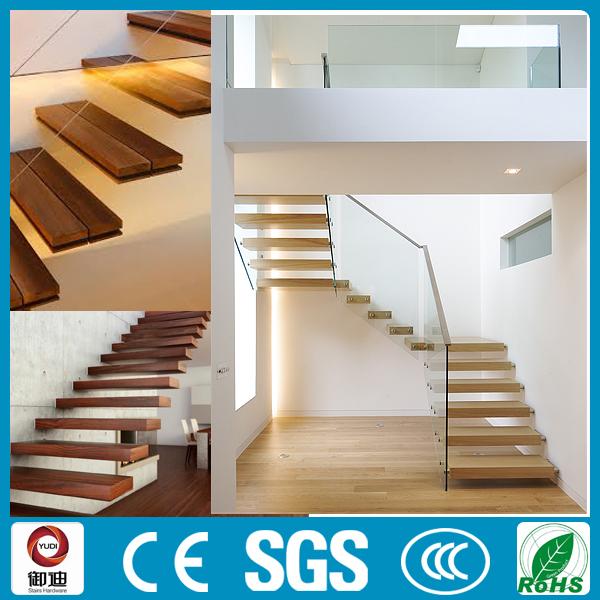 Interiores de lujo duro de madera flotante escaleras - Precio escaleras de madera ...
