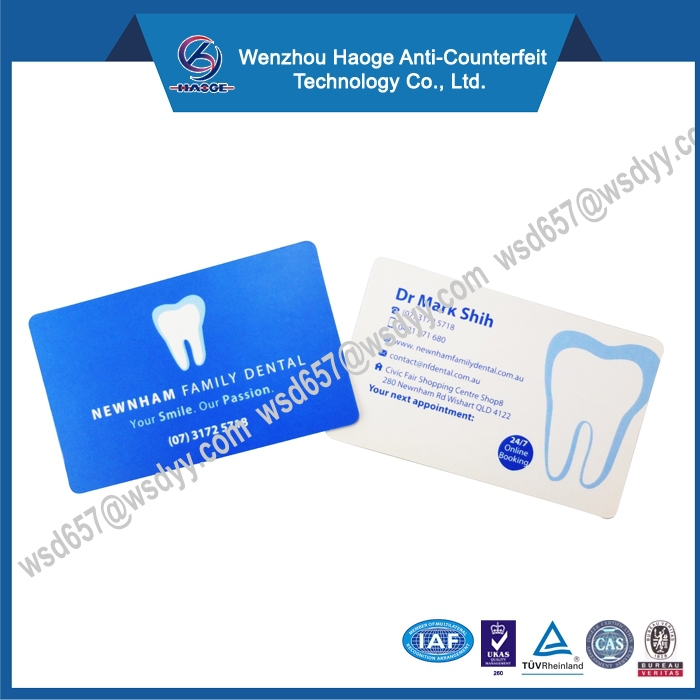 Double sided color printing name card,business card printing