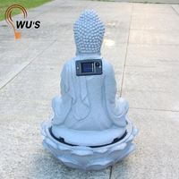 Top sale cheap price hot factory supply resin buddha water fountain statues